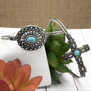🌼3/$30🌼Turquoise Concho or Cross Bangle Bracelet